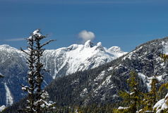 Widok przy lwów szczytami od pardwy góry Obraz Stock