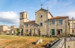 Widok przy Matriz kościół w Barcelos, Portugalia Zdjęcia Stock