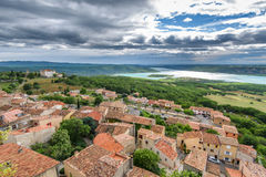 Widok przy miastem Aiguines Fotografia Stock