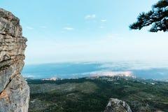 Widok przy miastem od góry Zdjęcia Royalty Free
