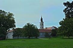 Widok przy monasterem powikłany Krusedold, Serbia Obraz Stock