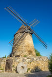 Widok przy Moulin Cugarel w Castelnaudary, Francja - Obrazy Stock