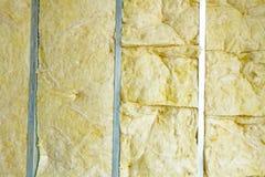 Widok przy niedokończoną termiczną partyjną ścianą, upału odosobnienie z górnikiem obrazy royalty free