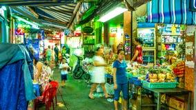 Widok przy noc rynkiem w Ho Chi Minh mieście Zdjęcie Stock