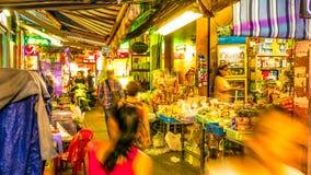Widok przy noc rynkiem w Ho Chi Minh mieście Fotografia Royalty Free