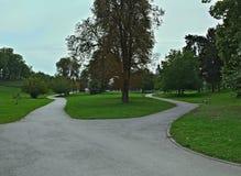 Widok przy parkiem w monasterze Krusedol, Serbia Zdjęcia Stock