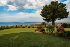 Widok przy Pogodną plażą, Bułgaria Zdjęcie Royalty Free