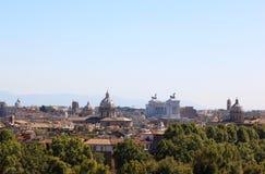 Widok przy Rzym od Passeggiata Di Gianicolo, Włochy Obrazy Stock