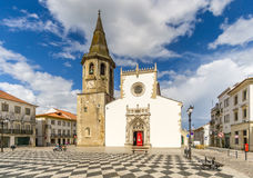 Widok przy St John kościół baptystów w Tomar, Portugalia - zdjęcie royalty free