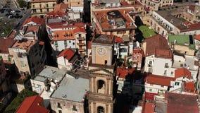 Widok przy starym miasteczkiem Minori w Włochy zdjęcie wideo