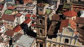 Widok przy starym miasteczkiem Minori w Włochy zbiory