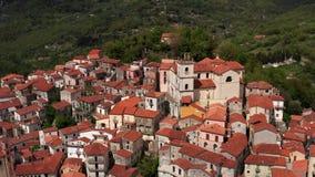 Widok przy starym miasteczkiem Rivello w Włochy zdjęcie wideo