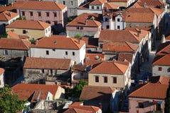 Widok przy Ston miasteczkiem w Chorwacja Fotografia Royalty Free