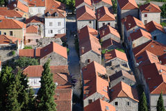 Widok przy Ston miasteczkiem w Chorwacja Zdjęcia Royalty Free
