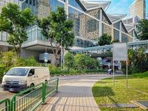 Widok przy Suntec Singapur od Temasek bulwaru obrazy stock
