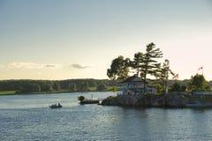 Widok przy Tysiąc wyspami Fotografia Stock