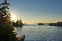 Widok przy Tysiąc wyspami Obraz Royalty Free