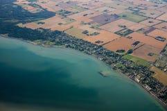 widok przybrzeżne powietrznej miasta Obraz Royalty Free