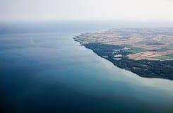 widok przybrzeżne powietrznej miasta Zdjęcie Royalty Free
