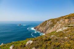 Widok przylądek Finisterre zdjęcie royalty free