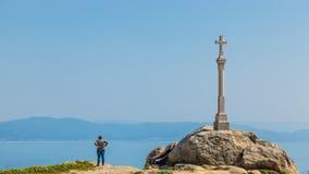 Widok przylądek Finisterre zdjęcia royalty free