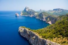 Widok przylądek Formentor zdjęcia royalty free