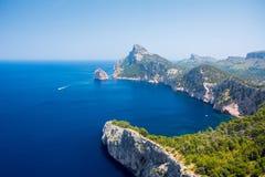 Widok przylądek Formentor zdjęcie royalty free