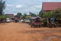 Widok przystanek autobusowy w Pakse Fotografia Stock