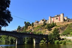 Widok Puebla De Sanabria, Zamora prowincja, Leon, Spai obrazy royalty free
