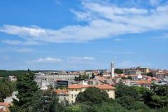 Widok Pula, od Weneckiego fortecy w centre Pula, Chorwacja obrazy stock