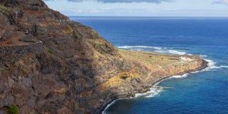 Widok Punta Llana, wyspy kanaryjskie dokąd jest przy losem angeles Gomera Ermita De Nuestra señora de Guadalupe, zdjęcie royalty free