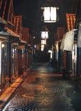 Widok pustej nocy uliczny rynek Obraz Stock