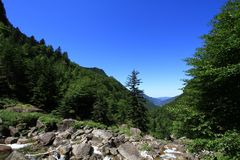 Widok Pyrenees Fotografia Stock