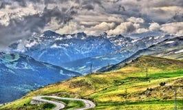 Widok Pyrenees zbliża El Pas De Los angeles Casa Zdjęcie Stock
