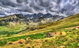 Widok Pyrenees zbliża El Pas De Los angeles Casa Obraz Royalty Free