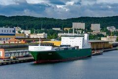 Widok quay stocznia i port Zdjęcie Stock