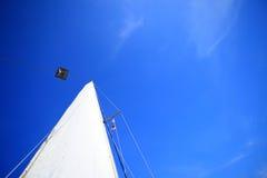 Widok różne części jacht, żagiel Zdjęcia Royalty Free