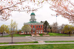 Widok rada Hall podczas dnia, Salt Lake City Fotografia Stock