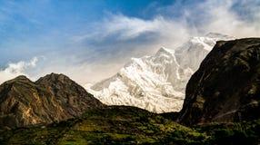 Widok Rakaposhi szczyt, Karakorum góry Pakistan Obrazy Stock