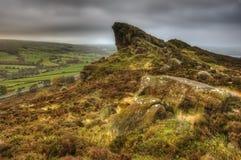 Widok Ramshaw skały w Szczytowym Gromadzkim park narodowy zdjęcia royalty free