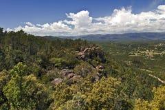 Widok Ravin des Cigarieres od Losu Angeles Col De Los angeles Pierre du Coucou Zdjęcie Stock