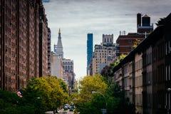 Widok 23rd ulica od Wysokiej linii w Chelsea, Manhattan, Ne Zdjęcie Royalty Free