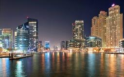 Widok region Dubaj, Dubaj Marina - Obrazy Stock