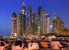 Widok region Dubaj, Dubaj Marina - Obrazy Royalty Free