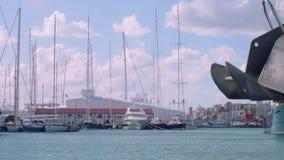 Widok relocatable kętnar dla ratować niezwykle espensive jachty i naprawiać zdjęcie wideo
