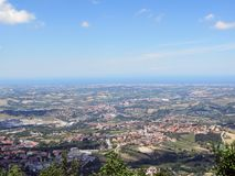 Widok republika San Marino zdjęcia stock