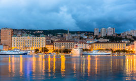 Widok Rijeka miasto w Chorwacja Zdjęcie Royalty Free