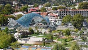 Widok Rike park z mostem pokój w Tbilisi, Gruzja zdjęcie wideo