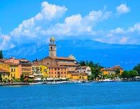 Widok Riva Del Garda, Jeziorny Garda, Włochy fotografia royalty free