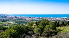 Widok Riviera Romagnola w Włochy Zdjęcia Stock